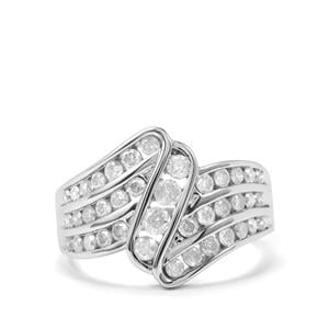 1ct Diamond 10K White Gold Tomas Rae Ring