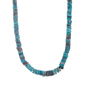 Sleeping Beauty Turquoise Graduated Necklace in Sterling Silver 117.51cts