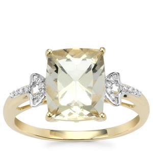 Serenite Ring with Diamond in 9K Gold 2.85cts
