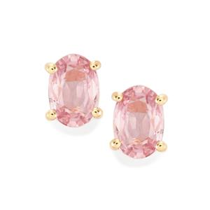 Sakaraha Pink Sapphire Earrings in 10K Rose Gold 1cts