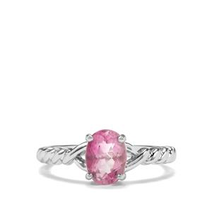 Natural Pink Fluorite Ring in Sterling Silver 1.51cts