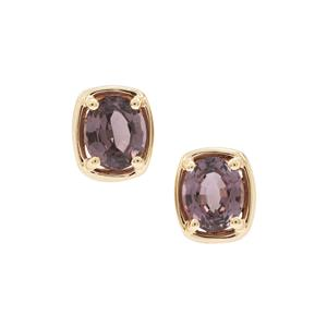 Burmese Pink Spinel Earrings in 9K Gold 1.57cts
