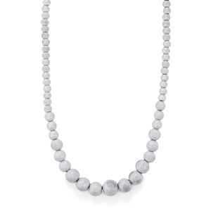 """18"""" Frosted Graduate Necklace in Sterling Silver 20.48g"""