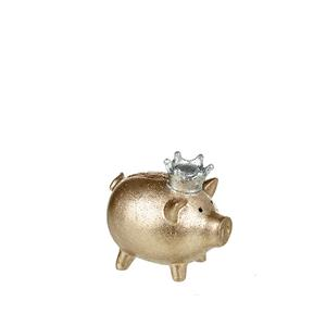 Gold Princess Piggy Bank  - 6.5x9.5x9cm