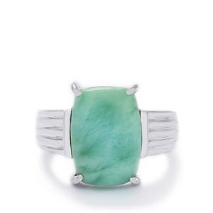 6.96ct Larimar Sterling Silver Ring