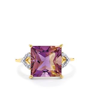 Anahi Ametrine Ring with Diamond in 10k Gold 4.68cts