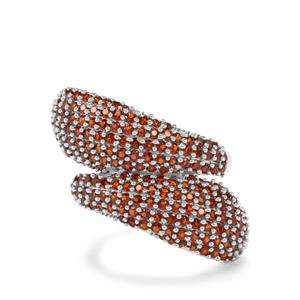 3.28ct Anthill Garnet Sterling Silver Ring