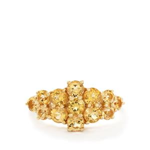 2.09ct Ouro Preto Imperial Topaz 9K Gold Ring