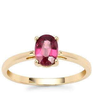 Malawi Garnet Ring in 10K Gold 1.07ctsq