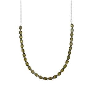 Moldavite Necklace in Sterling Silver 16.98cts