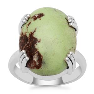 Queensland Chrysoprase Ring in Sterling Silver 14cts