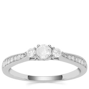 Diamond Ring in 9K White Gold 0.40ct