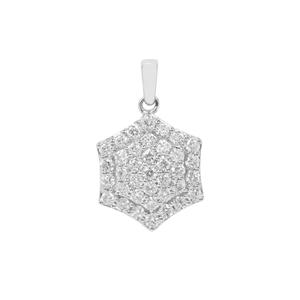 Diamond Pendant in Platinum 950 0.76ct