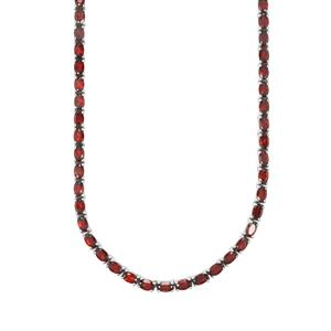 25.20ct Zambian Garnet Sterling Silver Necklace