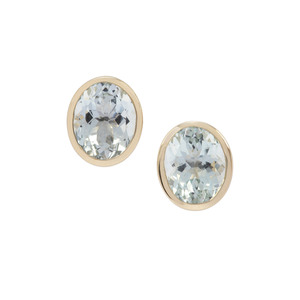 Aquamarine Earrings in 9K Gold 6.11cts