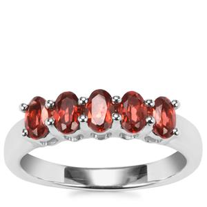 Nampula Garnet Ring in Sterling Silver 1.22cts