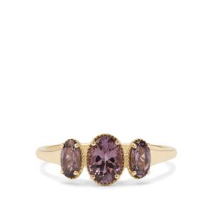 Mahenge Purple Spinel Ring in 9K Gold 1.15cts