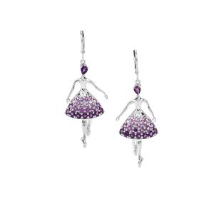 2.65ct Ametista Amethyst Sterling Silver Earrings