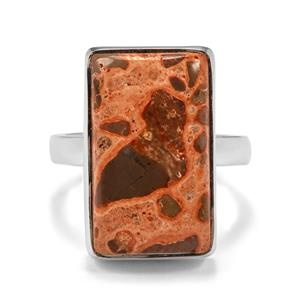 15.28ct Mexican Jasper Sterling Silver Aryonna Ring