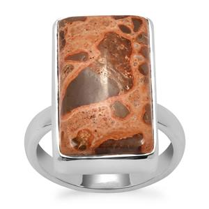Mexican Jasper Ring in Sterling Silver 15.28cts