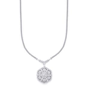 Diamond Necklace in Sterling Silver 2.15ct