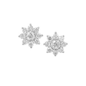 Diamond Earrings in Platinum 950 0.34ct