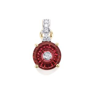 Lehrer TorusRing Umbalite Pendant with Diamond in 10K Gold 1.33cts