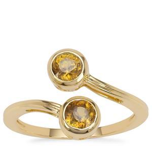 Morafeno Sphene Ring in 9K Gold 1.15cts