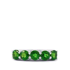 Chrome Diopside Ring in Sterling Silver 2.07cts