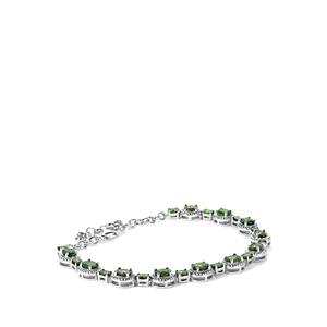 6.84ct Chrome Diopside Sterling Silver Bracelet