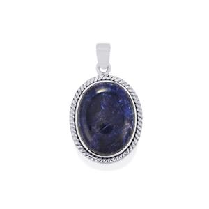 Sodalite Pendant in Sterling Silver 17.59cts