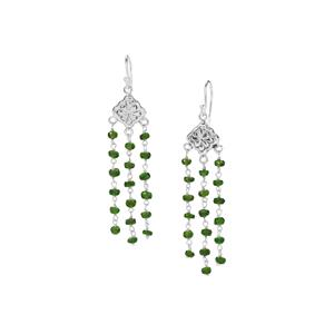 15ct Chrome Diopside Sterling Silver Bead Earrings