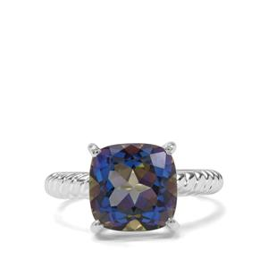 5.57ct Mystic Blue Topaz Sterling Silver Ring