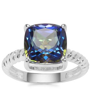 Mystic Blue Topaz Ring in Sterling Silver 5.57cts