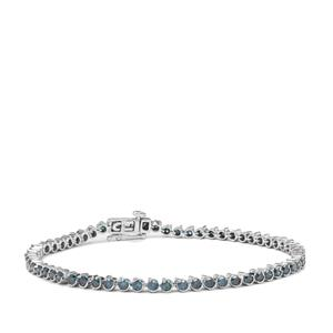Blue Diamond Bracelet in 9K White Gold 3cts
