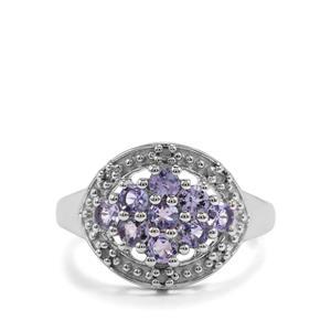 Tanzanite & Diamond Sterling Silver Ring ATGW 0.87cts