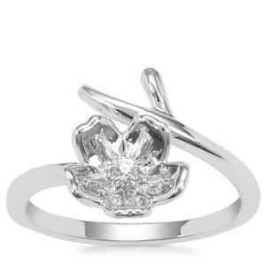 Singida Tanzanian Zircon Ring in Sterling Silver 0.06ct
