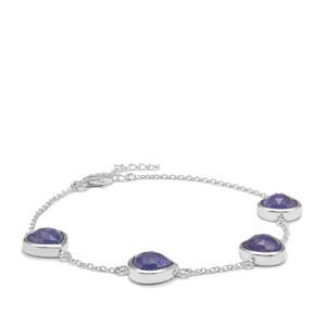 Rose Cut Tanzanite Bracelet in Sterling Silver 10cts