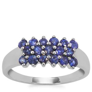 Sri Lankan Sapphire Ring  in 9K White Gold 1.04cts