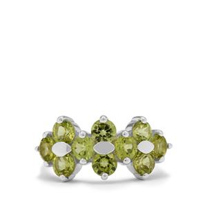 Red Dragon Peridot Ring in Sterling Silver 2.85cts