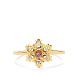 Jenipapo Andalusite & Diamond Midas Ring ATGW 0.14cts
