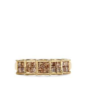 1ct Champagne Diamond 9K Gold Tomas Rae Ring