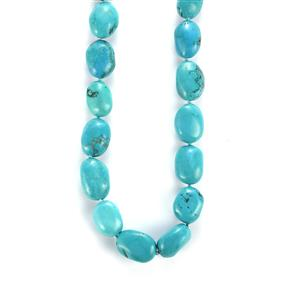 Turquoise Necklace in Sterling Silver 318.70cts