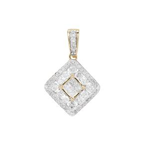 Diamond Pendant in 9K Gold 0.76ct