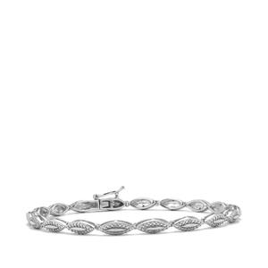 1/10ct Diamond Sterling Silver Bracelet