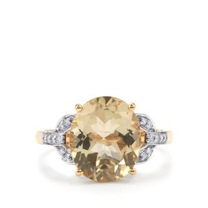 Serenite & Diamond 18K Gold Tomas Rae Ring MTGW 4cts