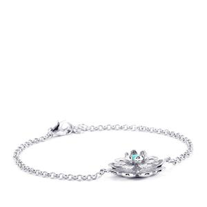 0.25ct Sleeping Beauty Turquoise Sterling Silver Bracelet