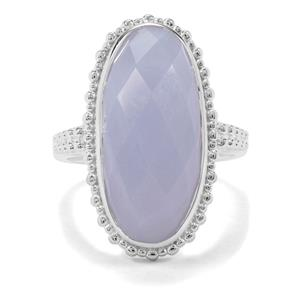 11.16ct Blue Lace Agate Sterling Silver Ring