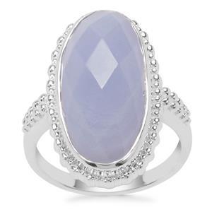 Blue Lace Agate Ring in Sterling Silver 11.16cts