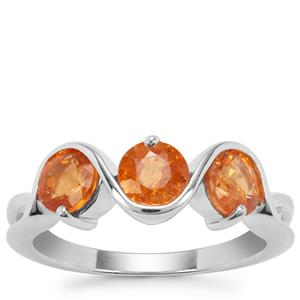 Mandarin Garnet Ring in Sterling Silver 2.52cts